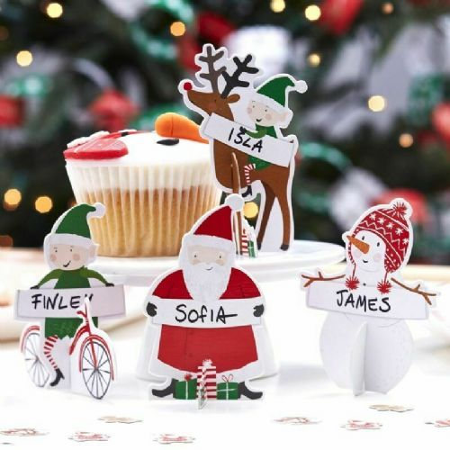 3D Christmas Place Cards 4pk